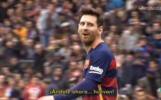 Messi insultó al arquero del Espanyol por este motivo [VIDEO]
