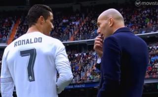 ¿Cristiano Ronaldo le dice a Zinedine Zidane qué cambios hacer?
