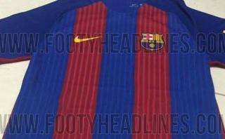 Barcelona: imágenes de nueva camiseta para siguiente temporada