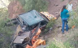 Keiko Fujimori: carro de comitiva cayó a abismo en Huancavelica