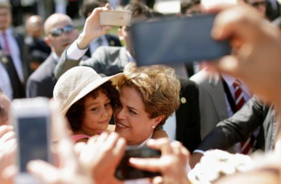 La emotiva despedida de Dilma en el Palacio de Planalto