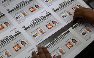 ONPE inicia impresión de cédulas de votación de segunda vuelta