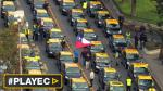"""""""¡Fuera Uber!"""", claman miles de taxistas en Chile [VIDEO] - Noticias de matias bergara"""