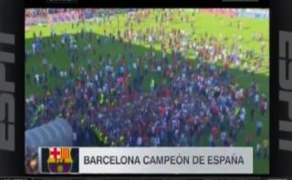Barcelona intentó celebrar en campo del Granada y esto sucedió