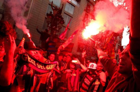Barcelona campeón: algarabía en calles de la ciudad por la Liga