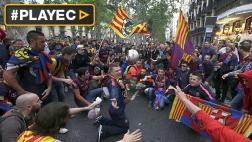 Barcelona campeón: así festejaron los hinchas [VIDEO]