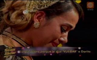 """""""El gran show"""": Dorita Orbegoso lloró por palabras su ex Luigui"""