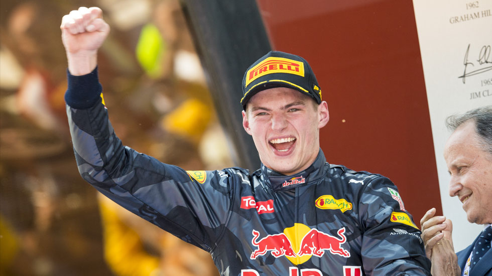 Max Verstappen se convirtió en el piloto más joven en ganar un GP de Fórmula 1. (fotos: Dppi)