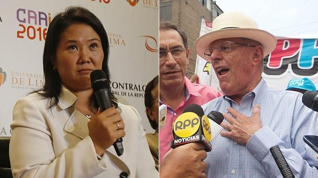Keiko Fujimori llega a 45% de antivoto y PPK a 39%, según Ipsos