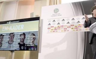 Alemania presentó su lista para la Eurocopa 2016