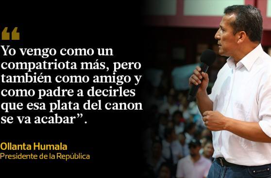 Ollanta Humala y sus frases sobre el canon en Cusco [GALERÍA]