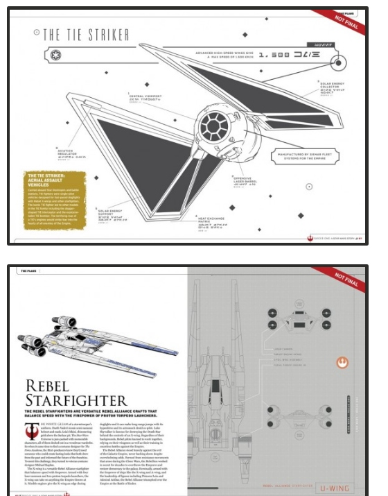 Tie Striker y U Wing. (Imagen: Comic Book Resources)