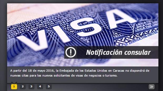 Venezuela: Embajada de EE.UU. suspende citas para visas