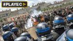 Francia: violentas protestas dan inicio a semana de huelgas - Noticias de reforma salarial