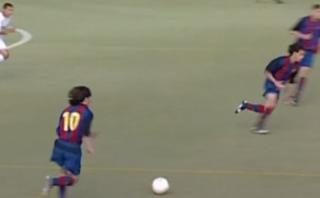 Lionel Messi jugaba como un maestro a los 16 años [VIDEO]