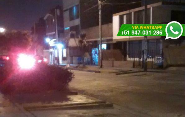 Gran despliegue policial en urbanizaciones cercanas a San Marcos (Foto: WhatsApp El Comercio)