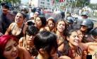 Mujeres marcharon frente al Congreso por penas contra el aborto
