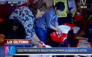 Keiko Fujimori: realizan plantón contra congresista Ramírez
