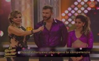 """David Villanueva, el primer eliminado de """"El gran show"""""""