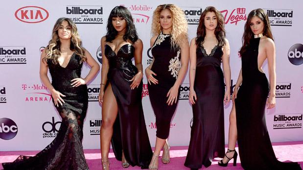 Ally Brooke, Normani Hamilton, Dinah-Jane Hansen, Lauren Jauregui y Camila Cabello de Fifth Harmony en los Billboard Music Awards. (Fotos: AFP)