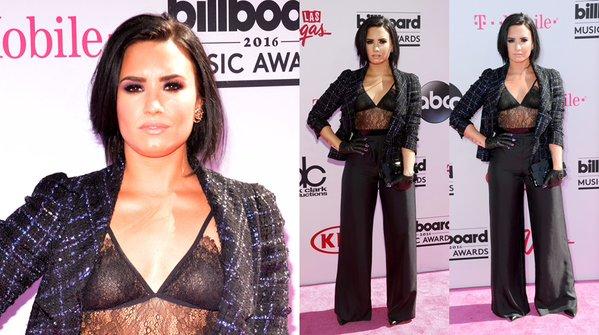 Demi Lovato en los Billboard Music Awards. (Fotos: AFP)