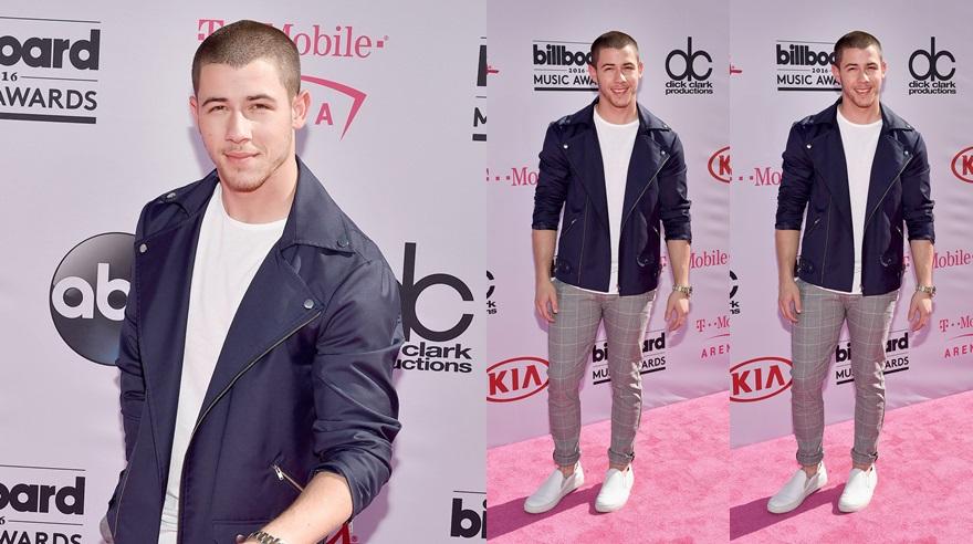 Nick Jonas en los Billboard Music Awards. (Fotos: AFP)