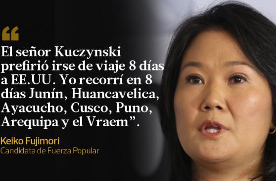 Keiko Fujimori: las frases que dejó en el debate con PPK