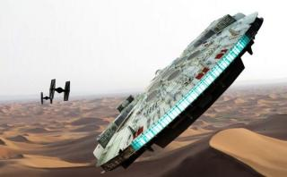 """""""Star Wars: Episodio 8"""": el Halcón Milenario reaparece en fotos"""