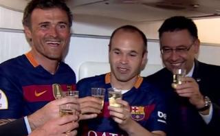 Barcelona: así brindaron los campeones de la Copa del Rey