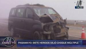 Pasamayo: dos choques vehiculares múltiples dejaron 12 heridos