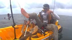 Pescó un tiburón blanco y casi perdió el pie [VIDEO]