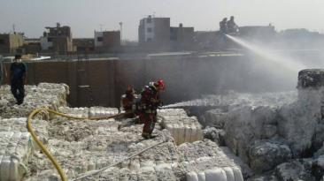 Ate: imágenes del incendio que destruyó fábrica de textiles