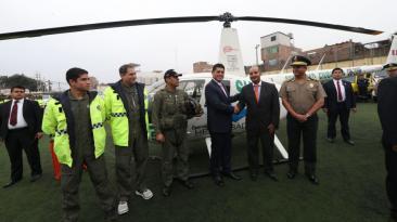 Surco: helicóptero patrullará calles del distrito [FOTOS]
