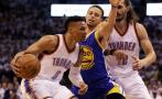 NBA: Russell Westbrook deja a Steph Curry al borde del KO