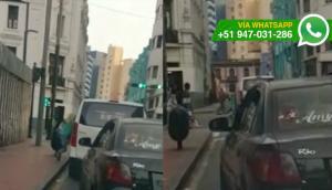Mujer reclamó por choque y fue arrastrada por conductor [VIDEO]