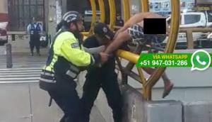 Hombre detenido por serenos trató de escapar saltando de puente