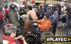 Bolivia: Reprimen protesta de discapacitados con gases y agua