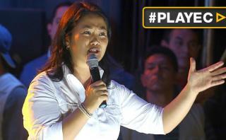 Keiko Fujimori lamenta y rechaza frases de Aguinaga contra PPK
