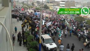 VMT: vecinos marcharon en las calles contra gestión del alcalde