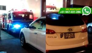 Bomberos no pudieron ir a emergencia por auto mal estacionado