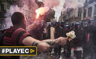 Miles protestan en Francia contra reforma laboral [VIDEO]