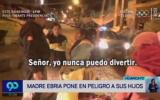 Huancayo: serenos intervienen a mujer ebria que paseaba a bebés