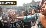 "A empujones desalojan a activistas de colectivo ""Keiko no Va"""