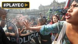 "A empujones desalojaron a activistas de colectivo ""Keiko no Va"""