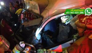 Surco: combi ocasionó triple choque y dejó 4 personas heridas