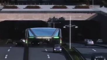 El autobús chino que se elevará por encima de los atascos