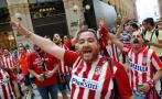 Hinchas del Atlético Madrid y Real Madrid tomaron Milán [FOTOS]