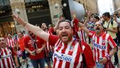 Hinchas del Atlético Madrid y Real Madrid toman Milán [FOTOS]