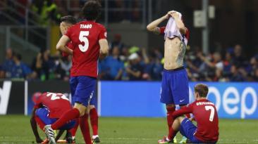 Atlético de Madrid y la decepción tras perder la final [FOTOS]