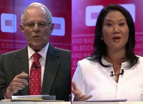 Debate presidencial: así fue la dura polémica Keiko vs. PPK